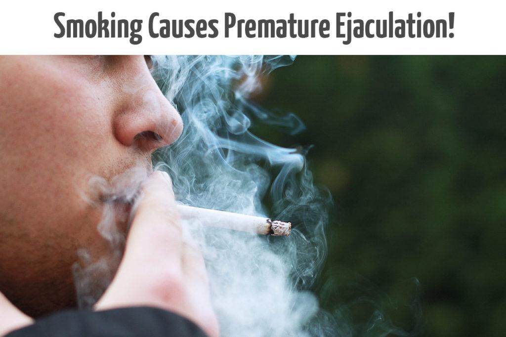 smoking causes Premature ejaculation