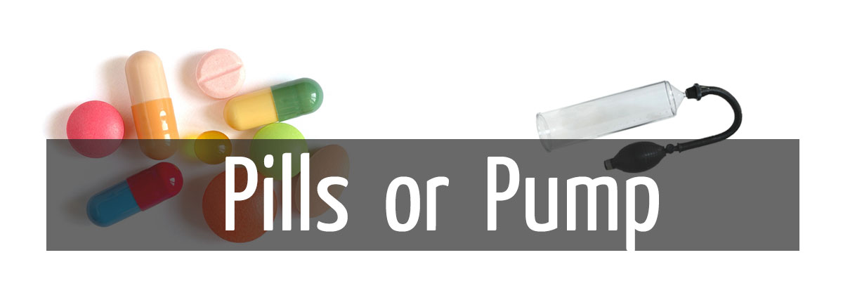 The difference between ED pills and ED pumps