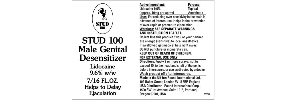 stud100 ingredients label