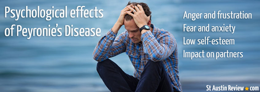Psychological effects of Peyronie's Disease